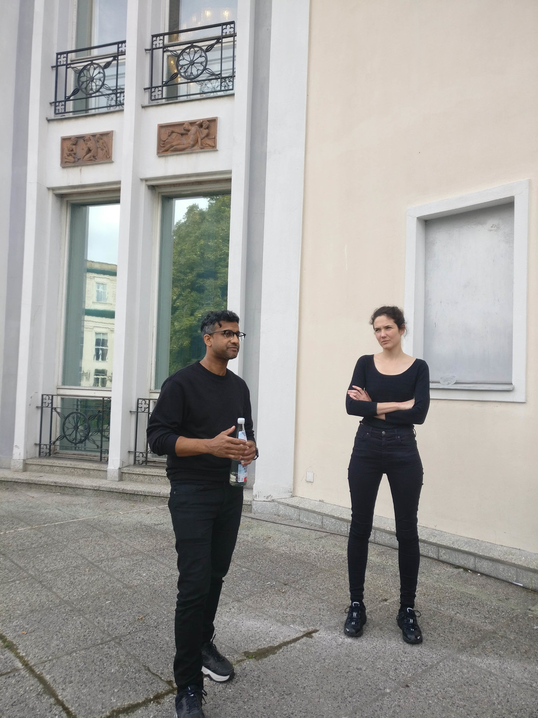 Artists Christopher Kulendran Thomas and curator Annika Kuhlmann.