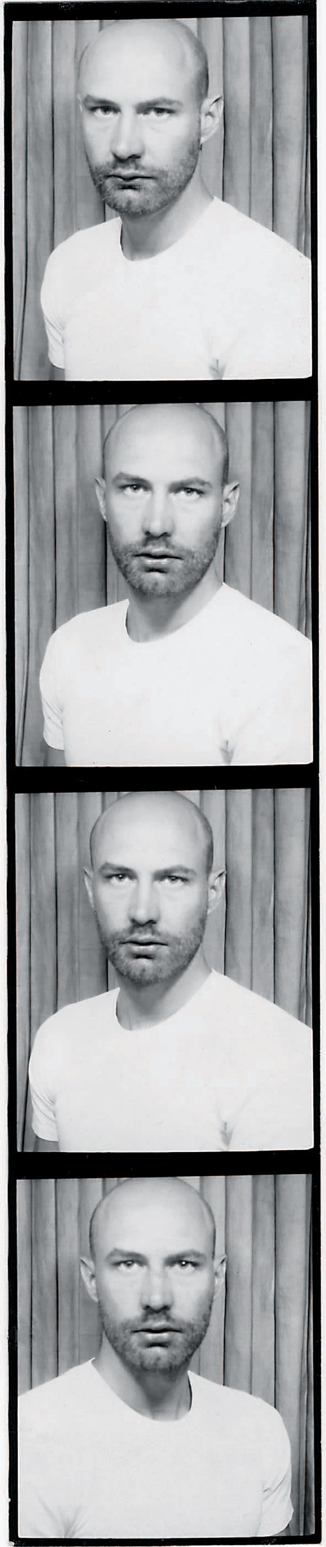 Photo-booth strip of Douglas Crimp, ca. 1970s.