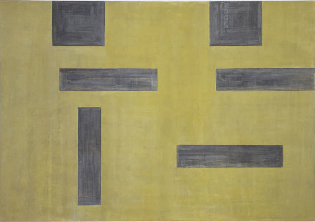 "Helmut Federle, Untitled (No Bild) (No Picture), 1986, acrylic on canvas, 8' 9 1⁄8"" × 12' 5 5⁄8""."