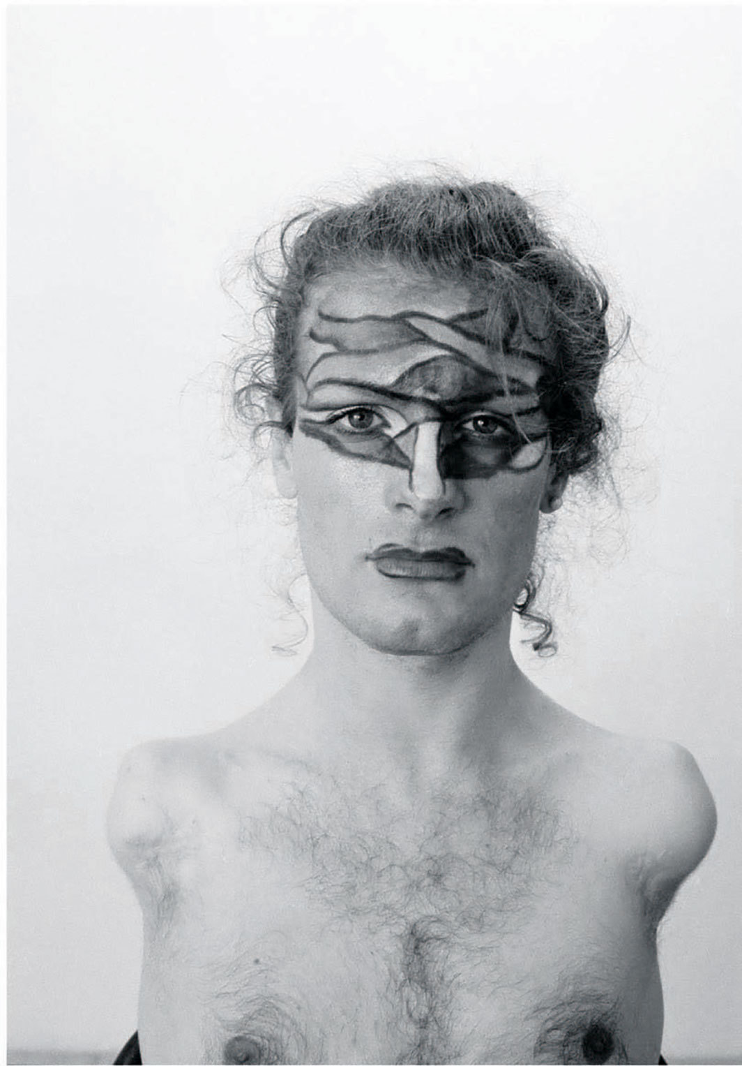 "Lorenza Böttner, Face Art, 1983, digital C-print, 15 3⁄4 × 11 3⁄4""."