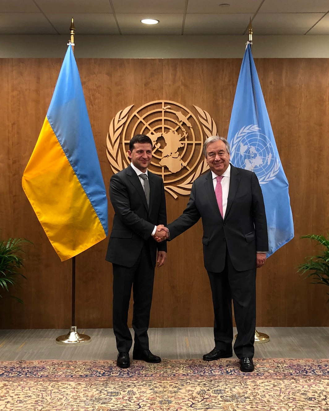 Ukrainian president Volodymyr Zelensky and Secretary-General António Guterres. Photo: Mary Ellen Carroll.