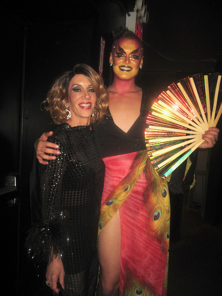 Linda Simpson and performer Johnny Nuriel.