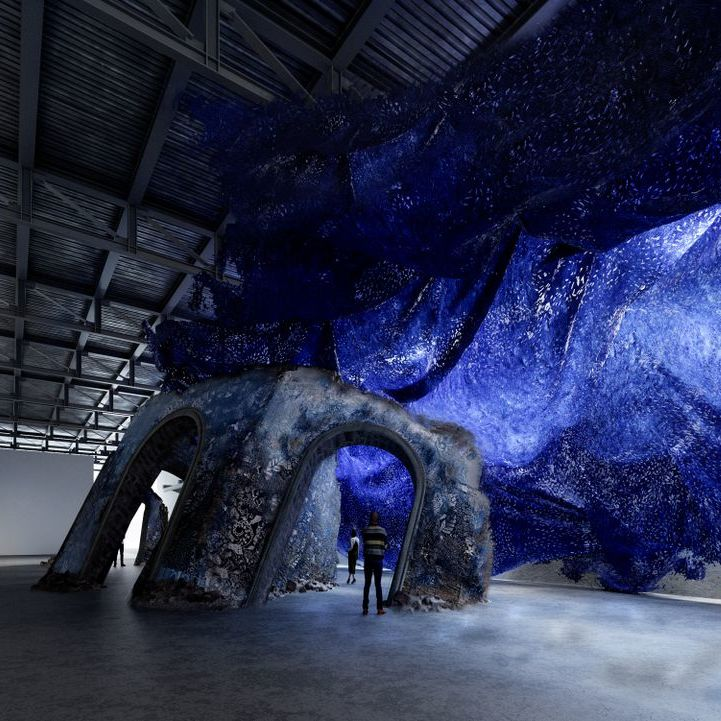 Rendering of Firelei Báez's installation by Nate Garner. Courtesy of the artist and James Cohan, New York.