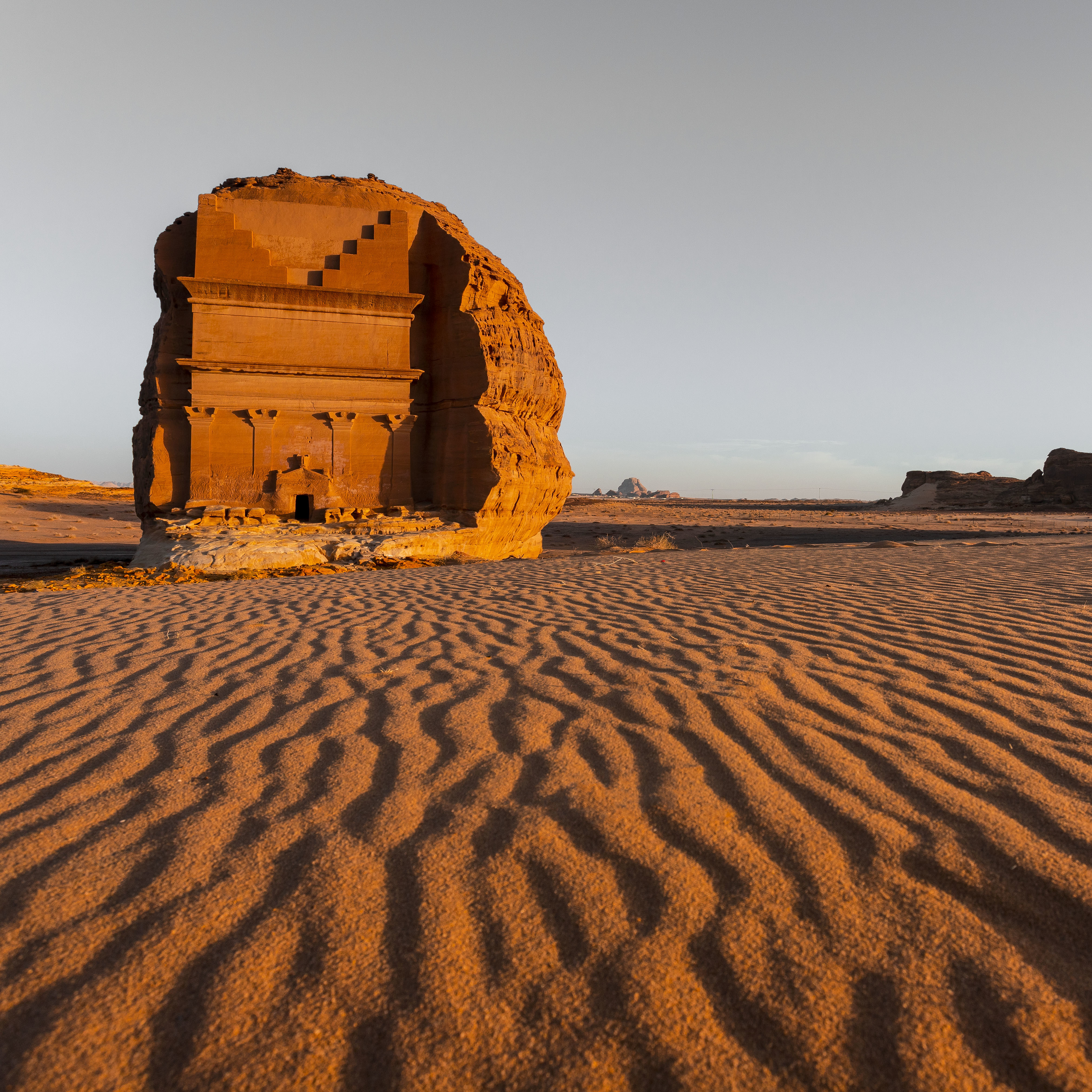 Qasr al-Farid at the UNESCO World Heritage Site Hegra in Saudi Arabia. Courtesy of the Royal Commission for AlUla.