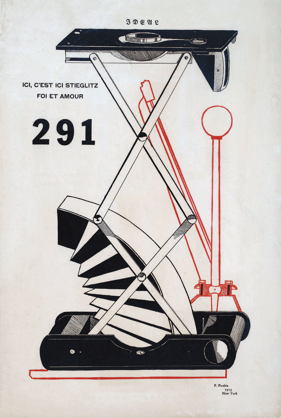 Francis Picabia's cover of 291, nos. 5–6 (July–August 1915).