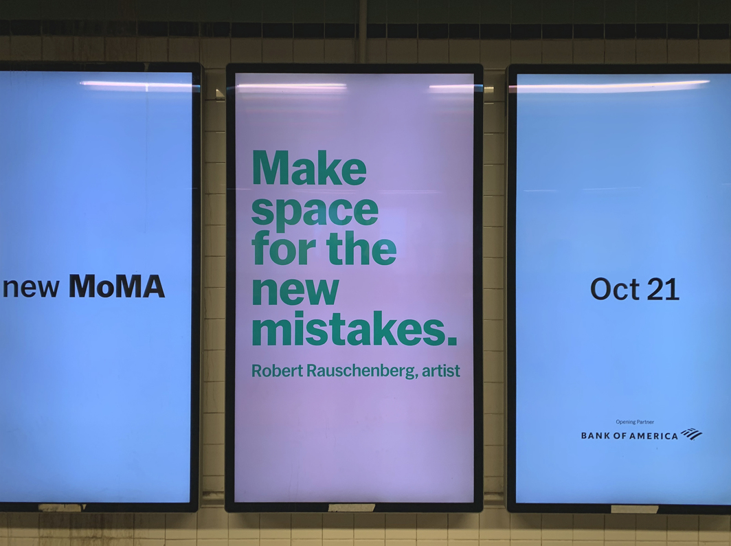 Subway advertisement for the New MoMA.