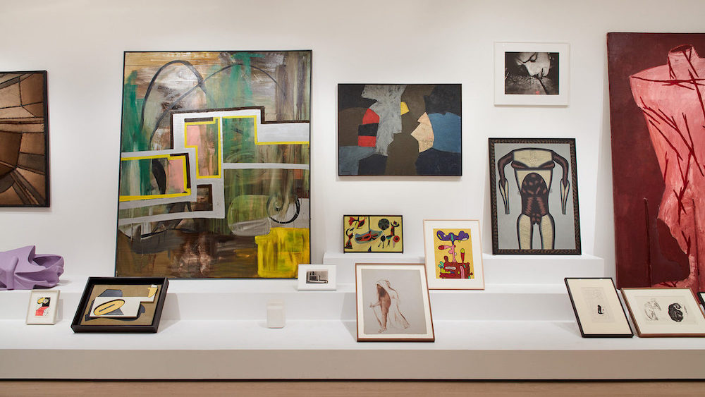 "View of ""Artist's Choice: Amy Sillman—The Shape of Shape,"" 2019–20, at the Museum of Modern Art, New York."