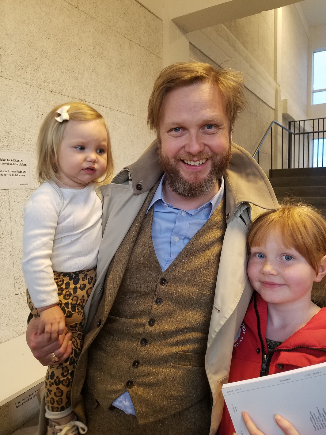 Artist Ragnar Kjartansson and family. Photo: Scott Indrisek.