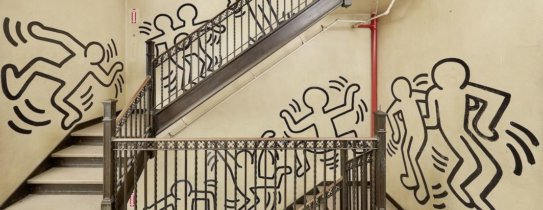 Keith Haring, Untitled (The Grace House Mural) (detail), ca. 1983–84. Courtesy of Bonhams.