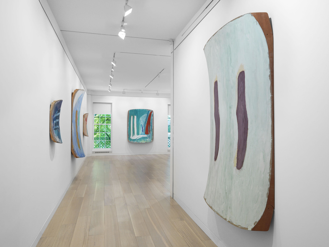 "View of ""Ron Gorchov: at the cusp of the 80s, paintings 1979–1983,"" 2019."