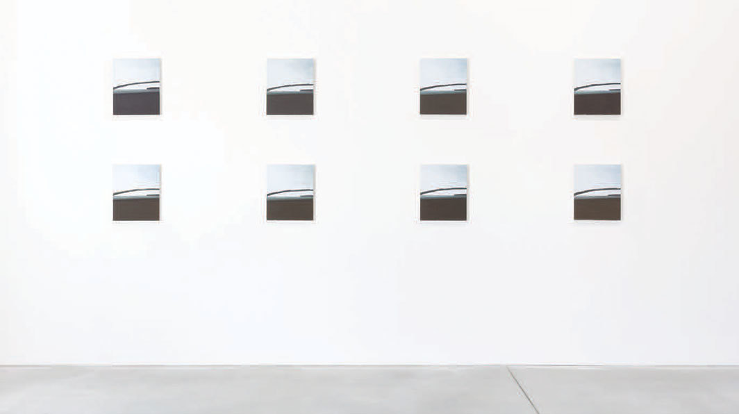 "Pieter Vermeersch, 8 Paintings I, 1999, eight oil-on-canvas paintings, each 16 1⁄2 × 13 3⁄4""."