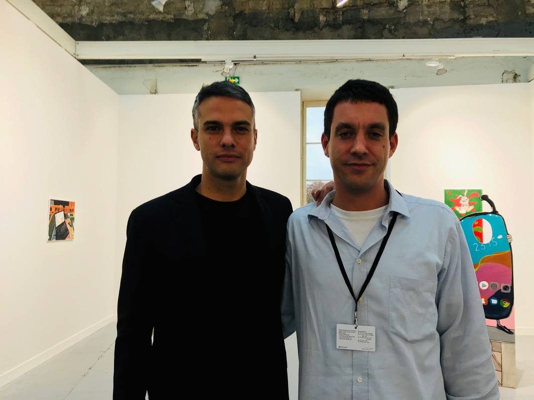 Curator Simon Castets and gallerist Édouard Montassut.