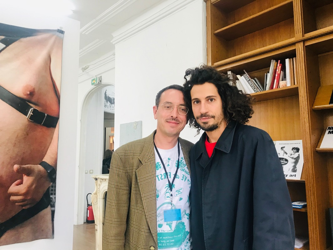Vincent Simon of Paris Ass Book Fair and Vincent de Hoÿm of Tonus at Paris Internationale.