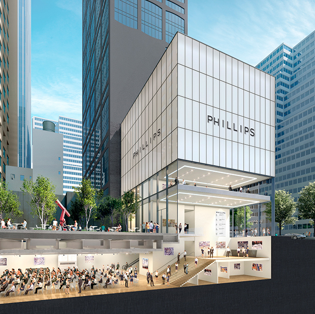 StudioMDA rendering of Phillips's Park Avenue space. Courtesy of Phillips.