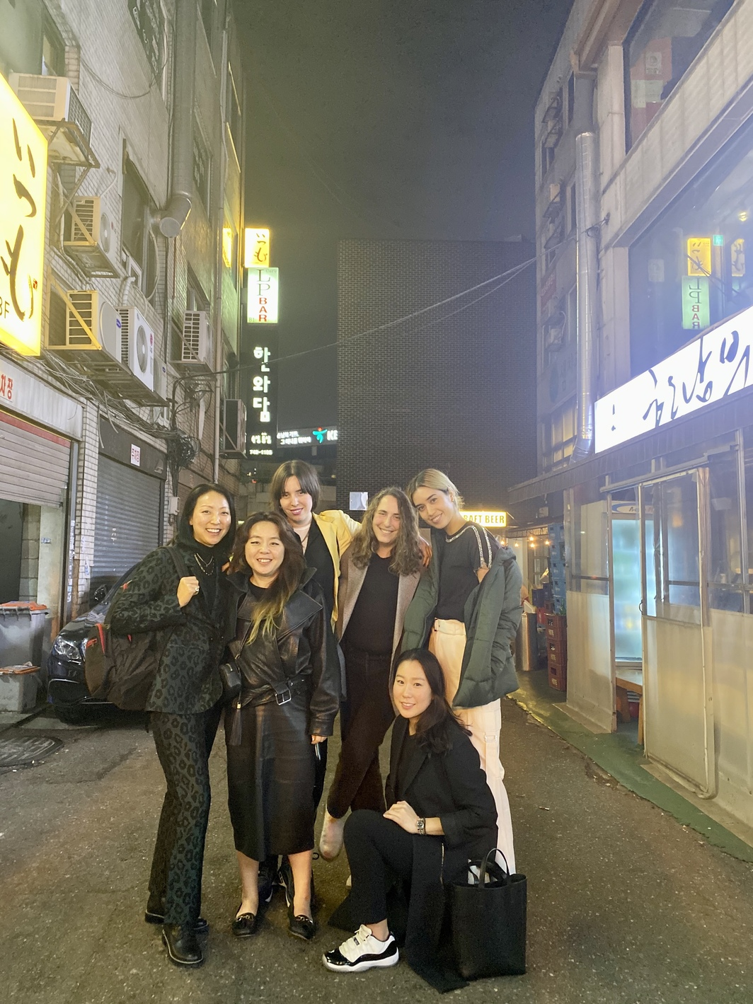 Esther Kim Varet, owner of Various Small Fires; artist Nikki S. Lee; writer Emily Segal; artist Math Bass; VSF LA director Sara Hantman; VSF Seoul director Somin Jeon.