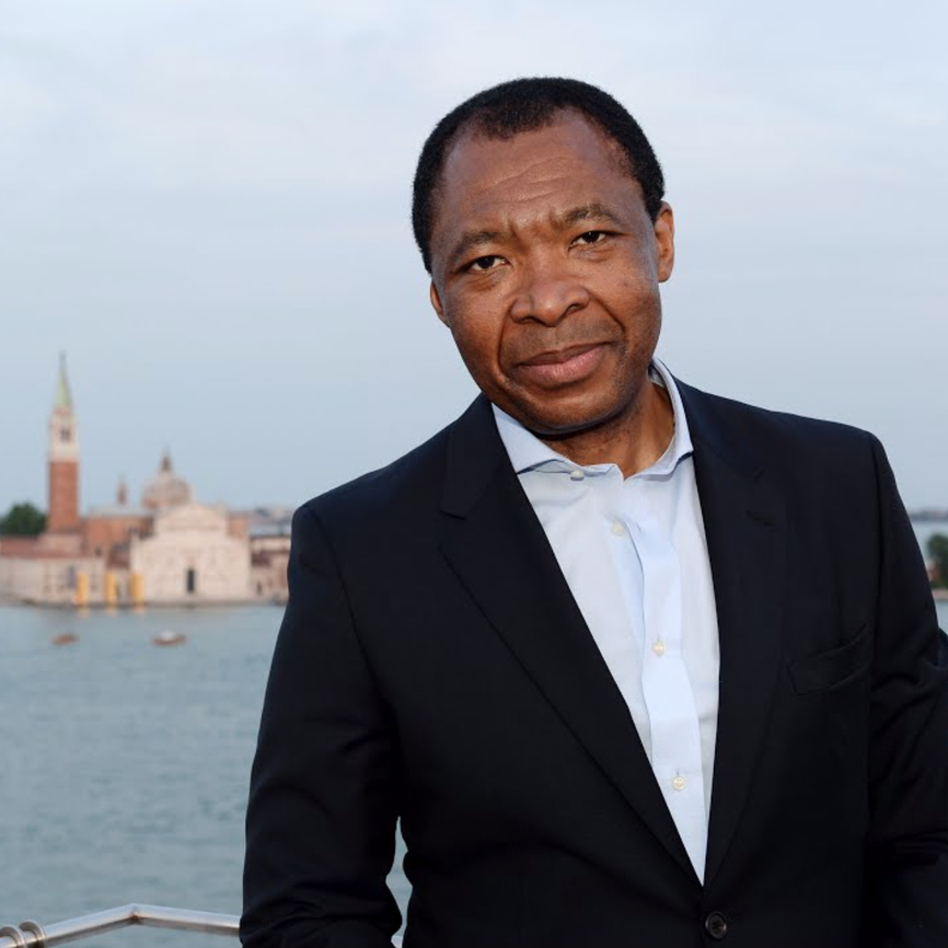 Okwui Enwezor. Courtesy of the Venice Biennale.