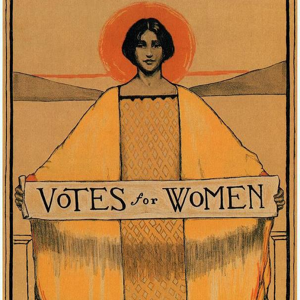 "A women's suffrage poster, which is currently on view in the exhibition ""Votes for Women: A Portrait of Persistence"" at the National Portrait Gallery in Washington, DC. Courtesy of the National Portrait Gallery."