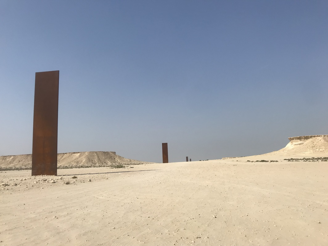 View of Richard Serra's East-West/West-East.