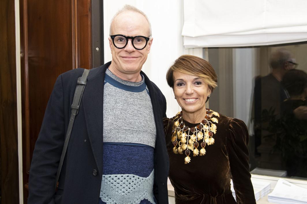 Hans Ulrich Obrist and Patrizia Sandretto.