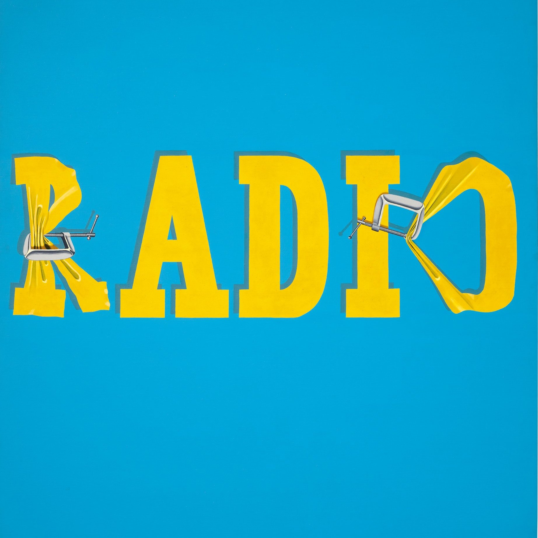 Ed Ruscha's Hurting the Word Radio #2, 1964. Courtesy of Christie's.