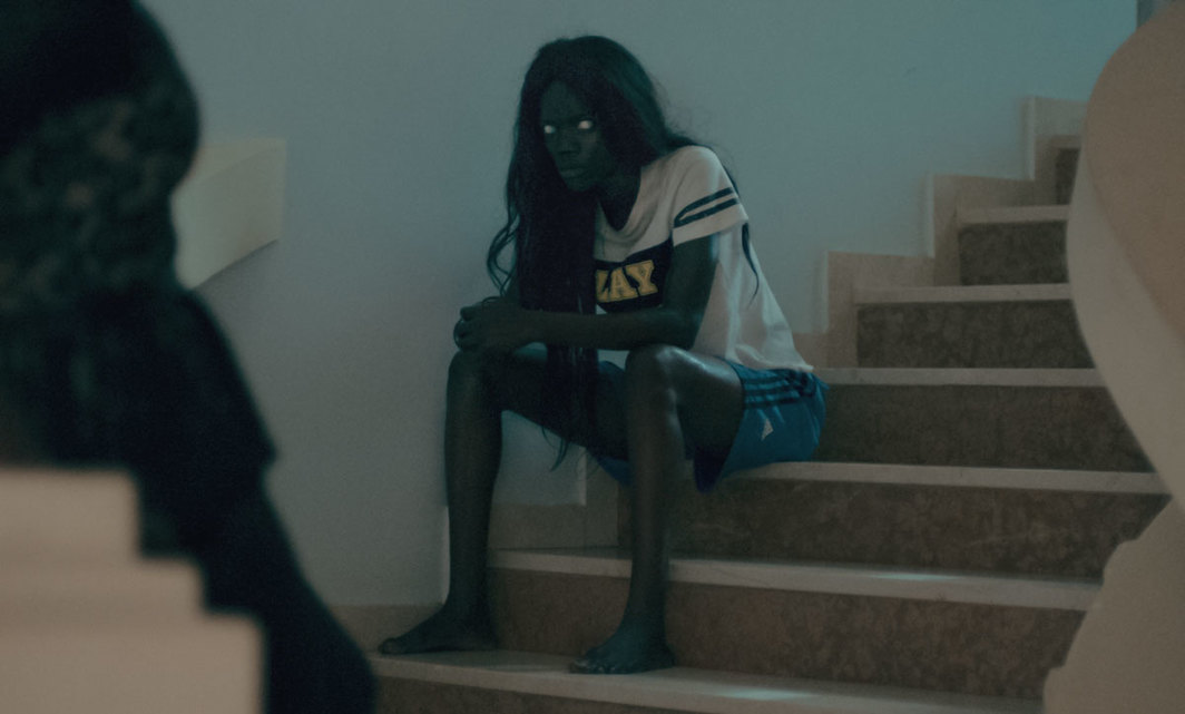 Mati Diop, Atlantique (Atlantics), 2019, HD video, color, sound, 105 minutes. Possessed woman (Fanton Yande Ndiaye).