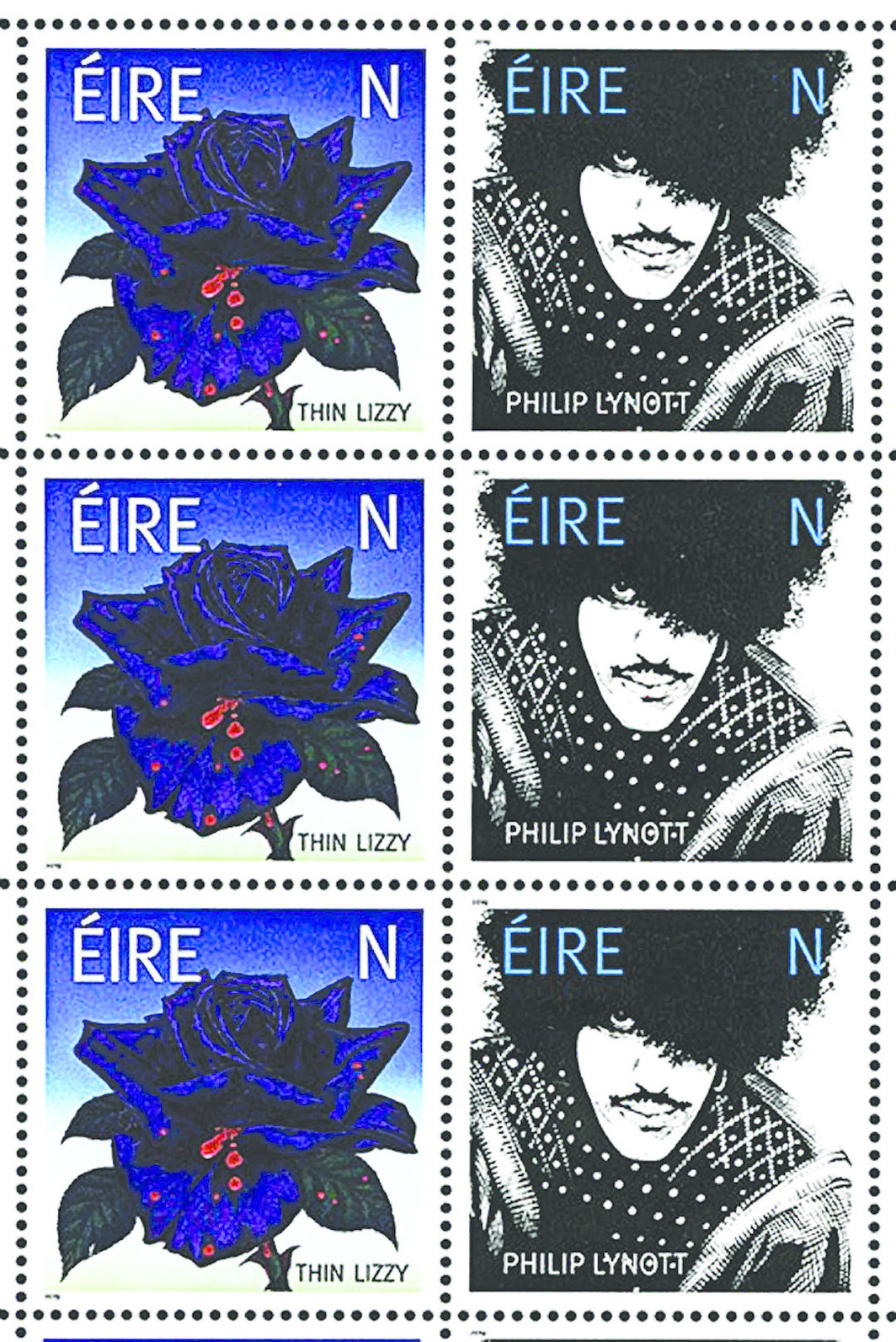 Thin Lizzy commemorative Irish postage stamps, 2019.