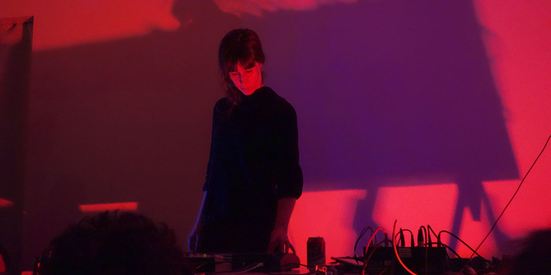 Marja Ahti performing at Sorbus Gallery, Helsinki, March 17, 2016. Photo: Sorbus.
