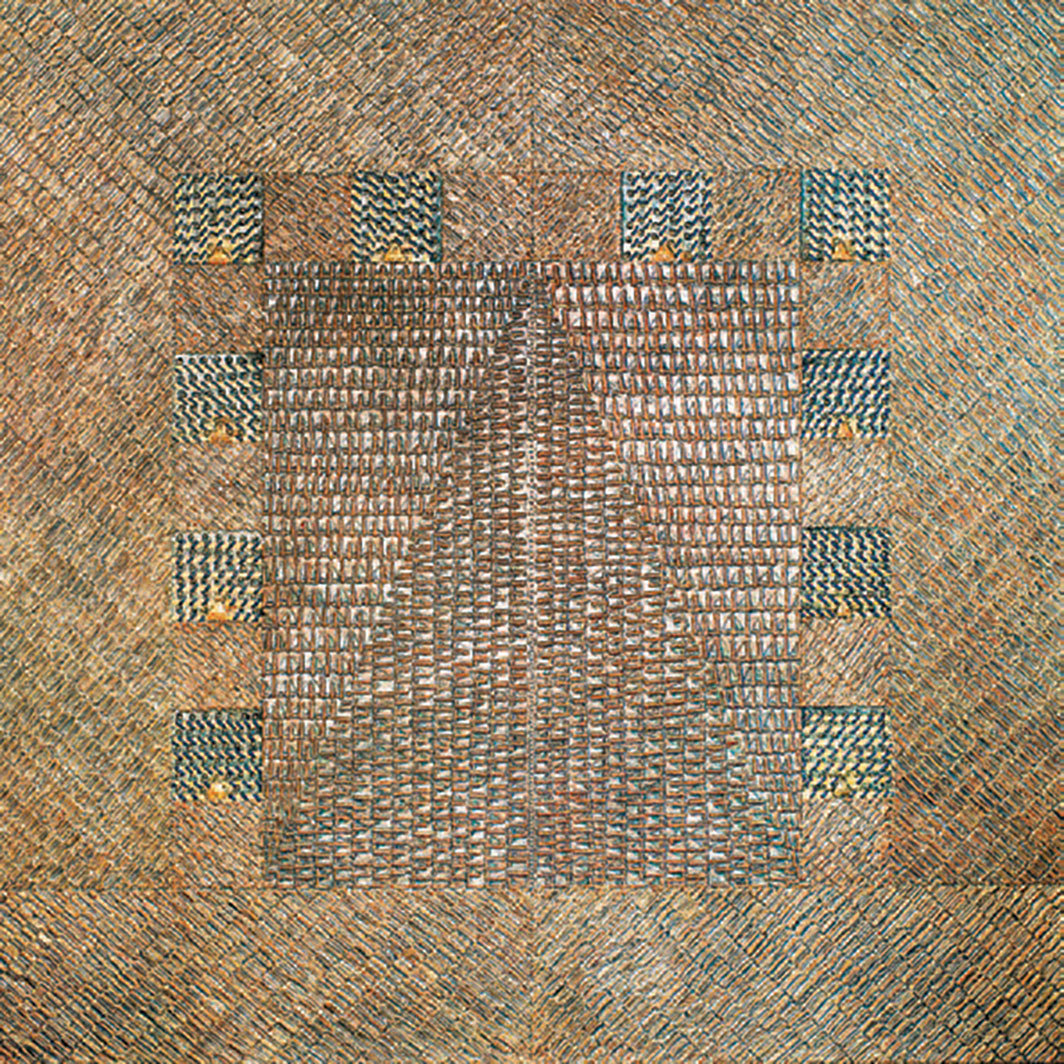 "Frank Faulkner, Atlantis II, date unknown, acrylic on canvas, 71 7⁄8 × 72 1⁄4"". From ""Pattern and Decoration: Ornament as Promise."""