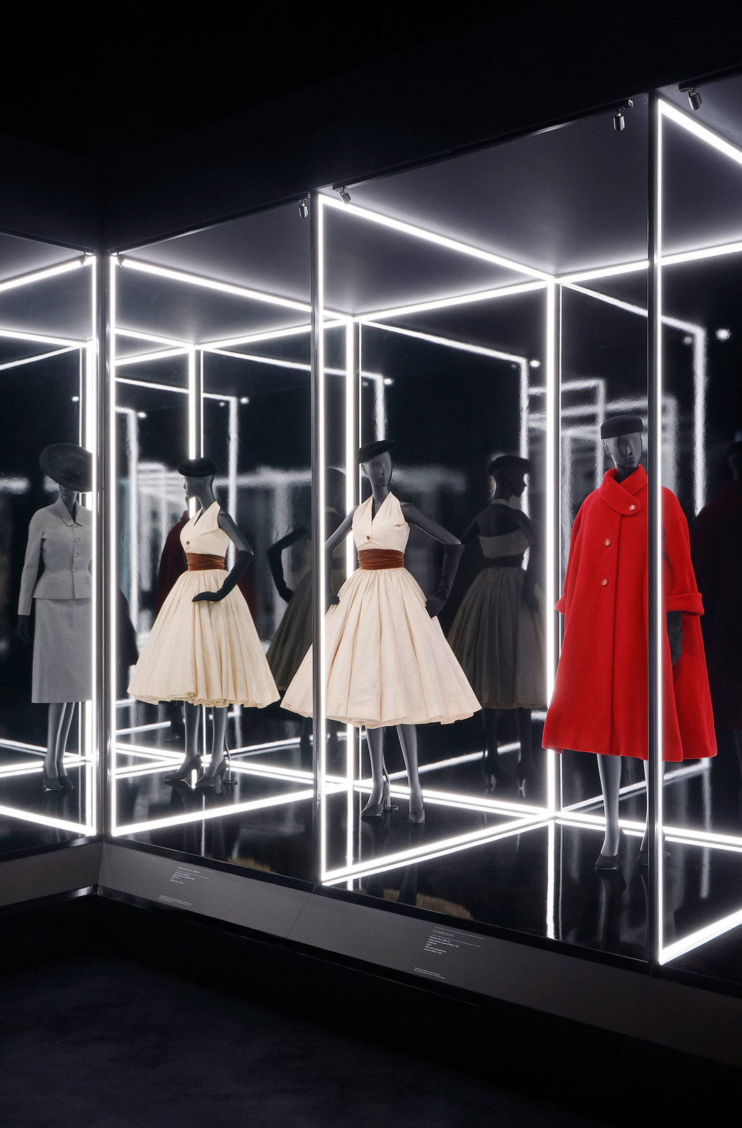 "View of ""Christian Dior: Designer of Dreams,"" 2019, Victoria and Albert Museum, London. Photo: Adrien Dirand."
