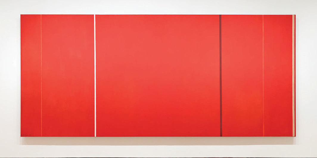 Barnett Newman, Vir Heroicus Sublimis, 1950–51, oil on canvas. Installation view, Museum of Modern Art, New York, 2019. Photo: Robert Gerhardt.