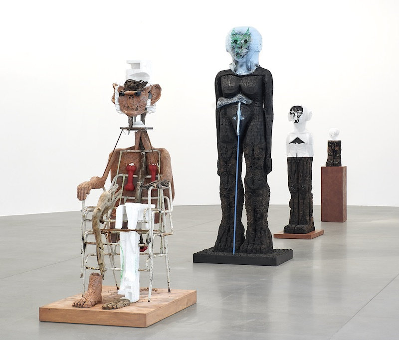"View of ""Huma Bhabha,"" 2019–2020. Photo: Matteo D'Eletto."