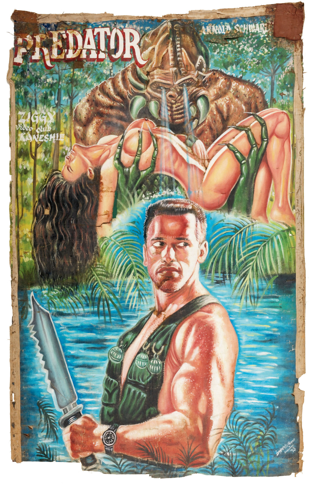 "Leonardo, Predator, 1993, oil on canvas, 81 x 55""."