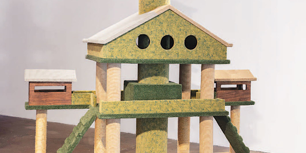 "Adrian Wong, The House That Snoopy Built, 2019, mixed media, 96 × 105 × 36""."