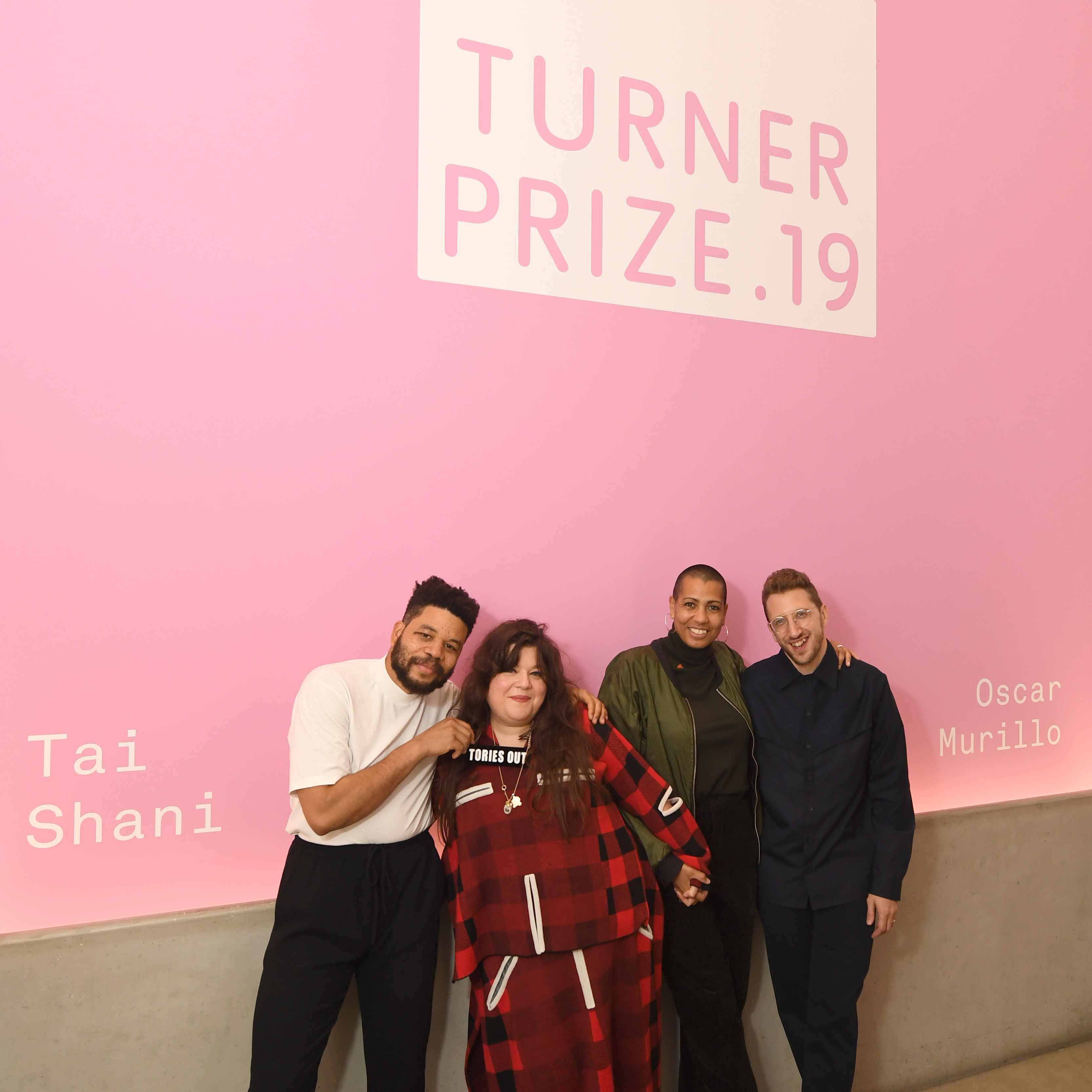 Oscar Murillo, Tai Shani, Helen Cammock, and Lawrence Abu Hamdan. Photo: Stuart C Wilson/Getty Images. Courtesy of Turner Contemporary.