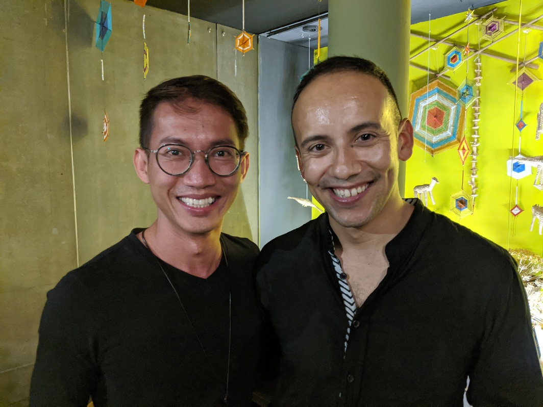 Artist Lyno Vuth and curator Inti Guerrero Photo: John Tain.