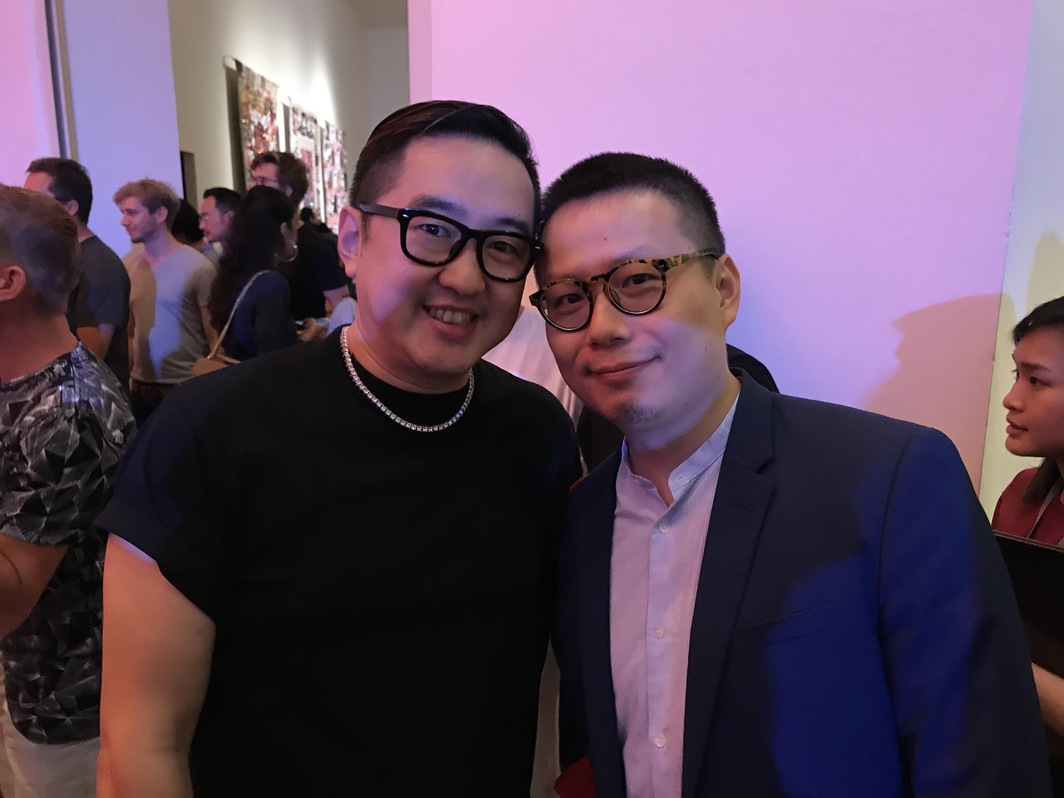 Art 021 cofounder Bao Yifeng and David Zwirner Hong Kong Director Leo Xu.