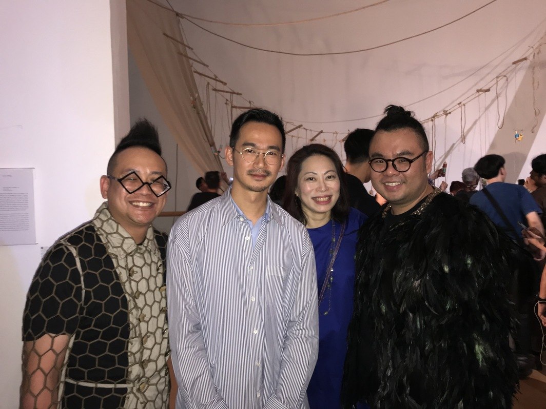 Collector Adrian Chan, Sunpride's Sean Chang, collector Ann Mui Ling and collector Ryan Su.