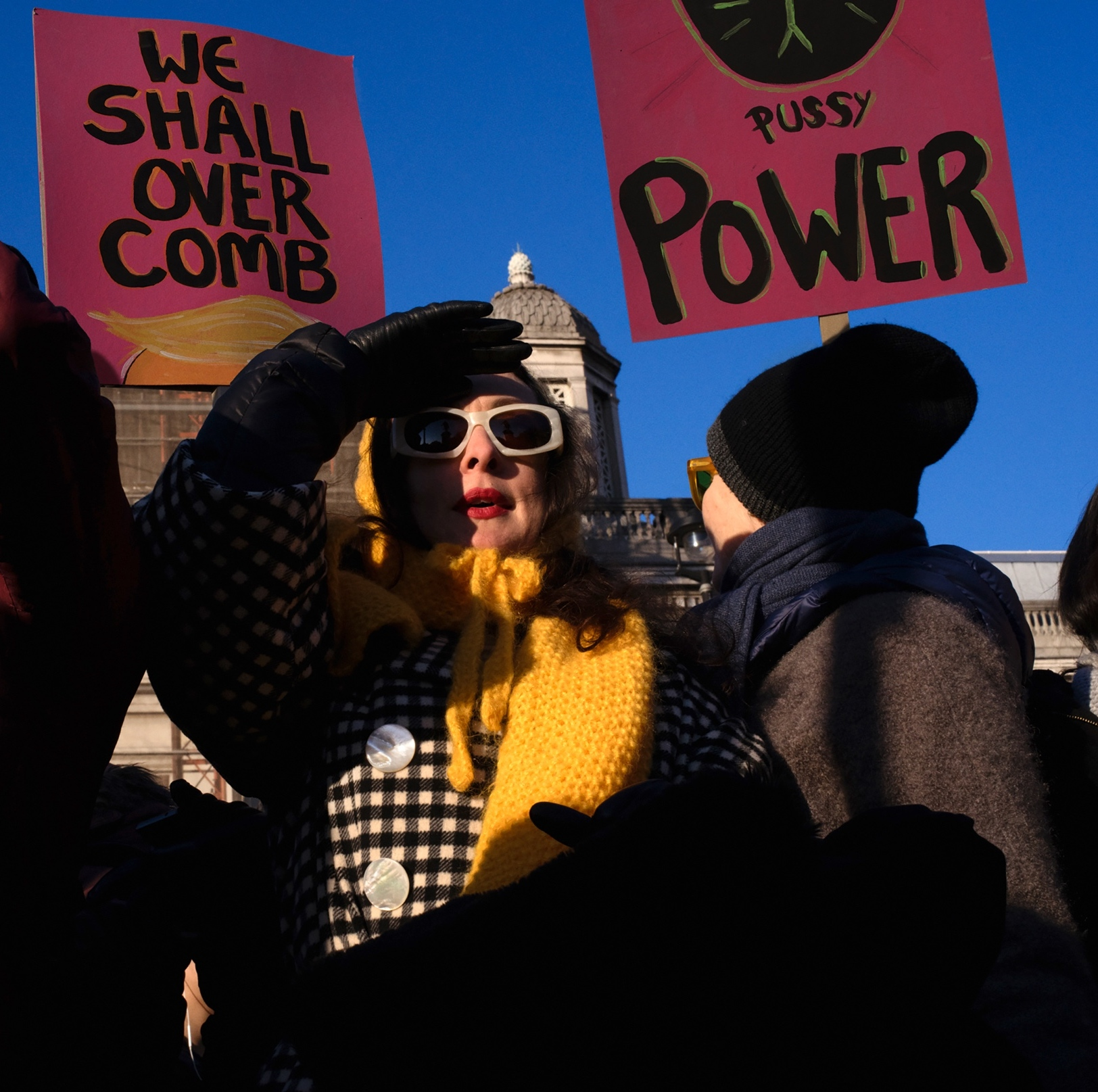 Hannah Starkey, Pussy power, Women's March, London 2017. Courtesy of Maureen Paley, London.