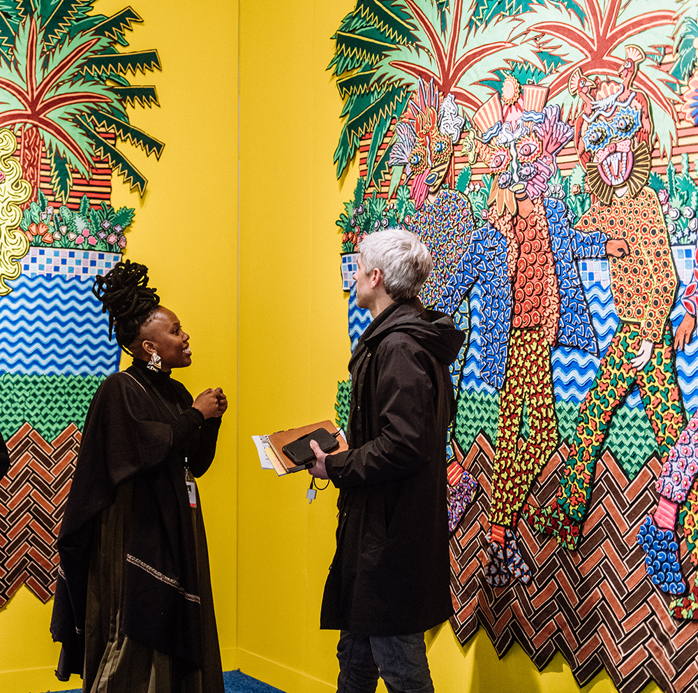 Installation view of Jody Paulsen's work at SMAC Gallery, The Armory Show 2019. Photo: Teddy Wolff. Courtesy of The Armory Show.