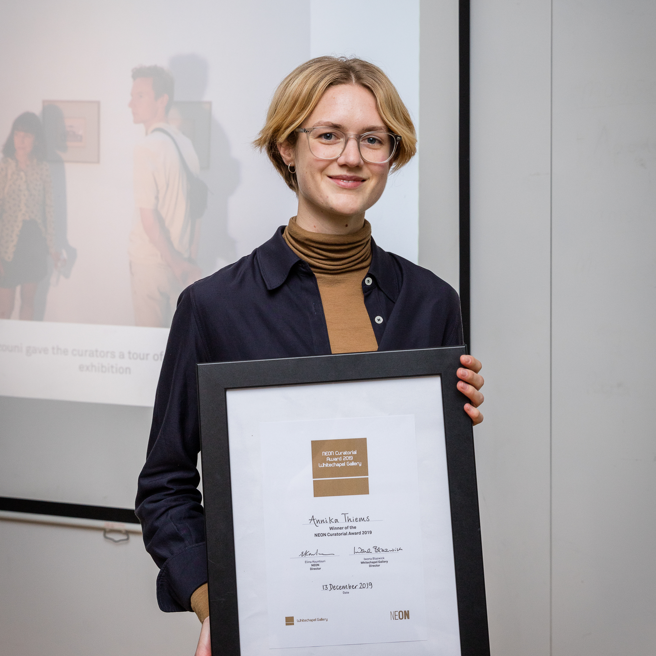 Annika Thiems, winner of the 2019 NEON Curatorial Award. Photo: Dan Weill.