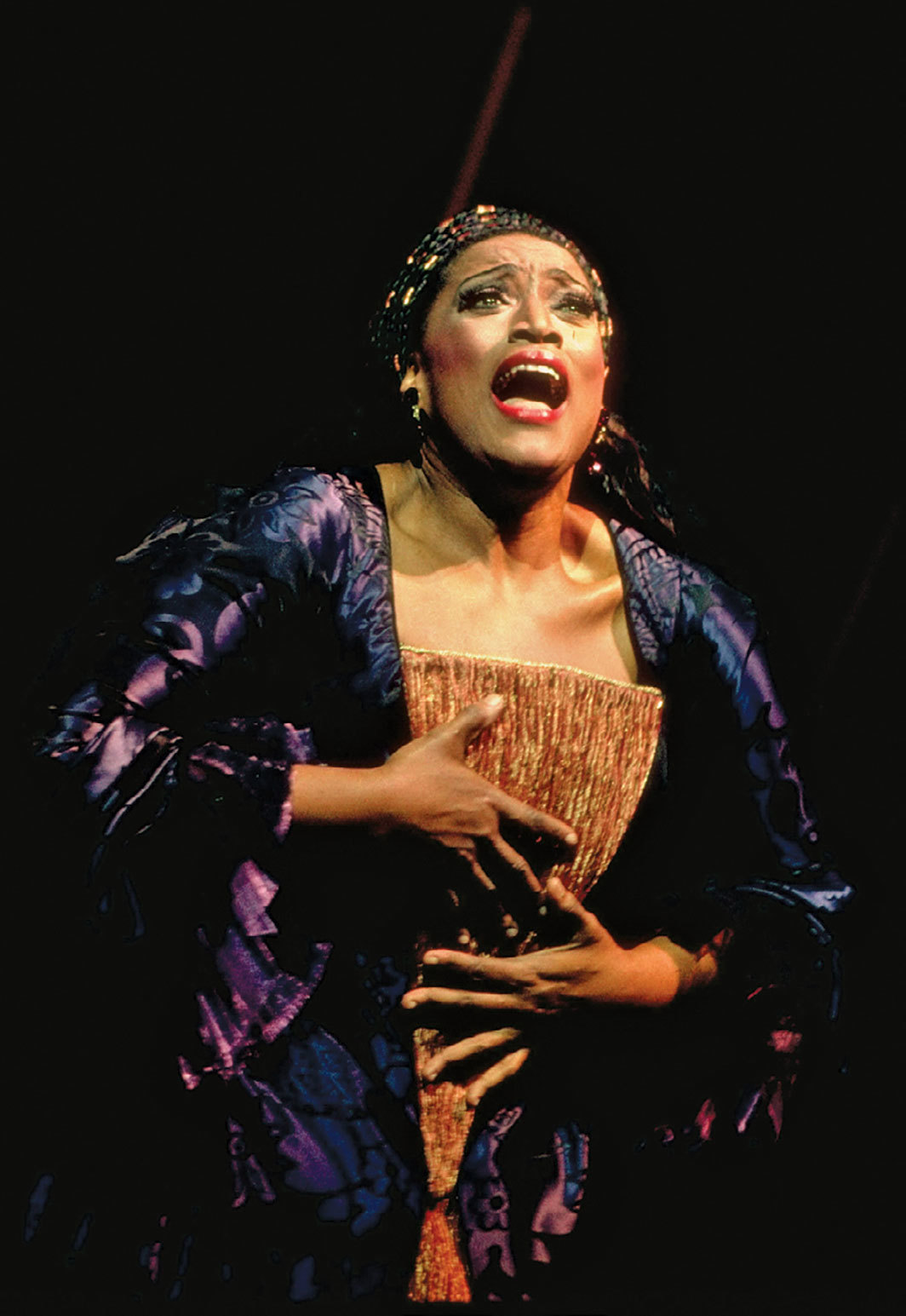 Jessye Norman performing in Richard Strauss's 1916 Ariadne auf Naxos, Op. 60, Metropolitan Opera, New York, March 1993. Photo: Beatriz Schiller/The LIFE Images Collection via Getty.