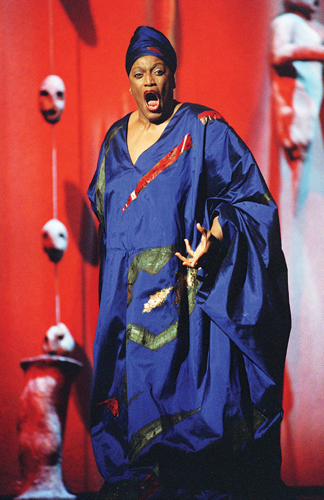 Jessye Norman performing at the Théâtre du Châtelet, Paris, October 3, 2002. Photo: Pierre-Franck Colombier/AFP via Getty.