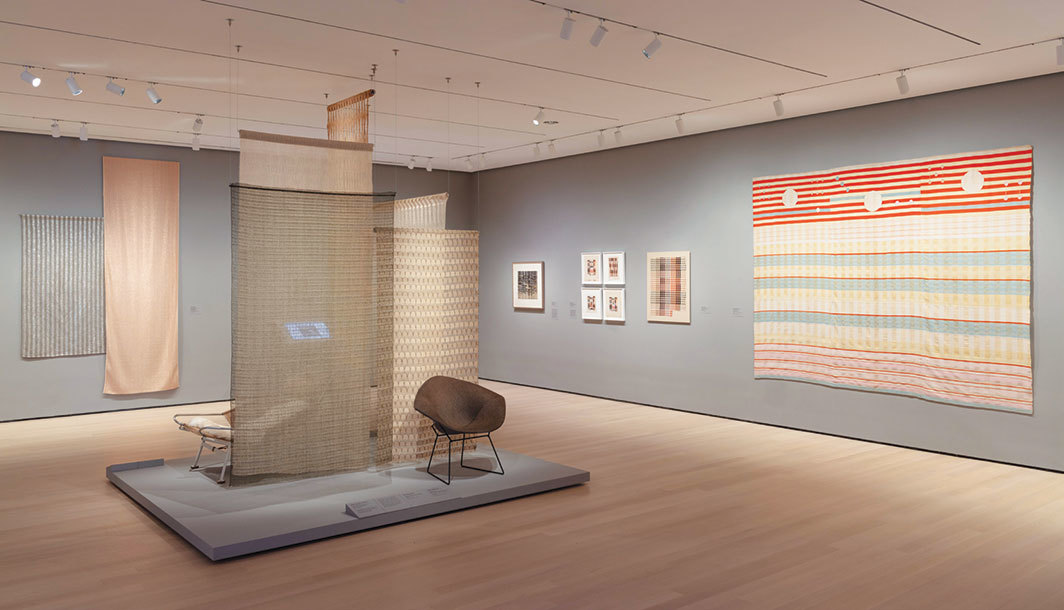 "View of ""Taking a Thread for a Walk,"" 2019–20, Museum of Modern Art, New York. Photo: Denis Doorly."