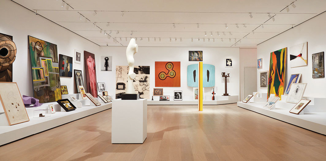 "View of ""Artist's Choice: Amy Sillman,"" 2019–20, Museum of Modern Art, New York. Photo: John Wronn."