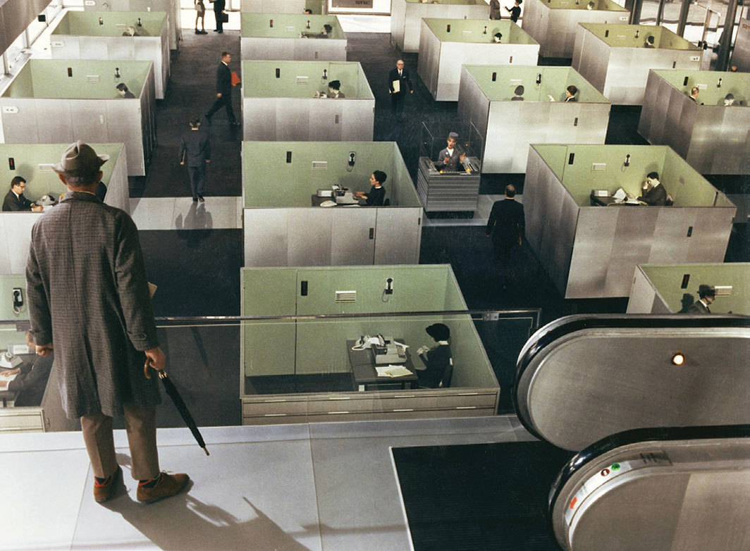 Jacques Tati, Playtime, 1967, 70 mm transferred to 4K video, color, sound, 124 minutes.