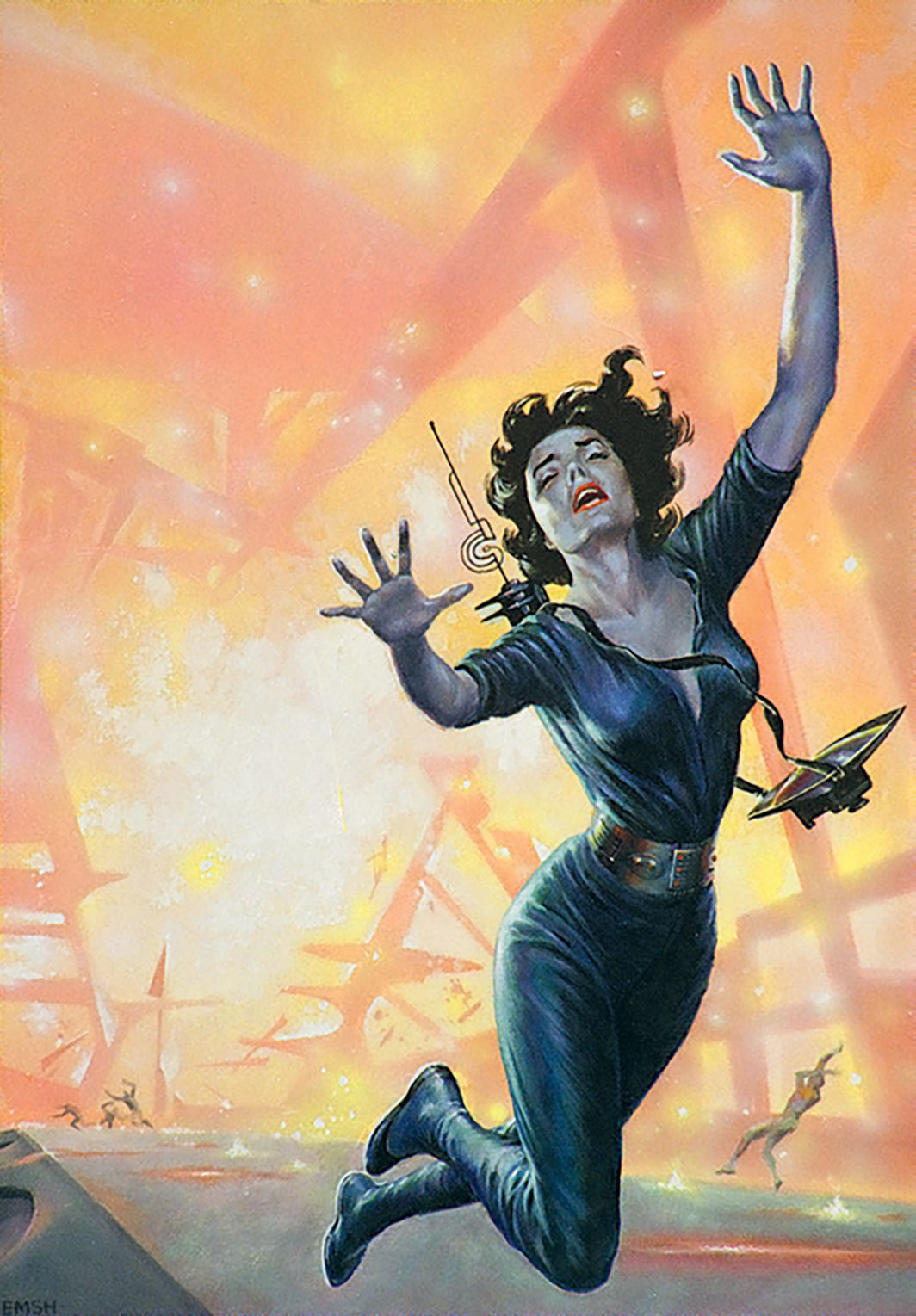 Ed Emshwiller, Disintegration of a Field-Force, cover art for the Magazine of Fantasy and Science Fiction (February 1957). © Estate of Ed Emshwiller/Dream Dance: The Art of Ed Emshwiller (Anthology Editions, 2019).