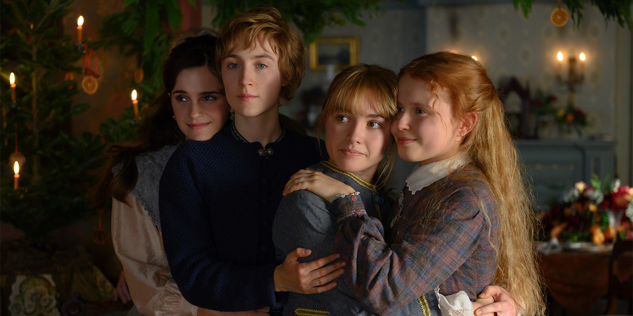 Greta Gerwig, Little Women, 2019, color, sound, 135 minutes. Meg March, Jo March, Amy March, Beth March (Emma Watson, Saoirse Ronan, Florence Pugh, and Eliza Scanlen).
