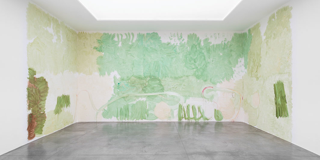 Zhang Enli, Watercolour on the Wall, 2019, watercolor. Installation view.