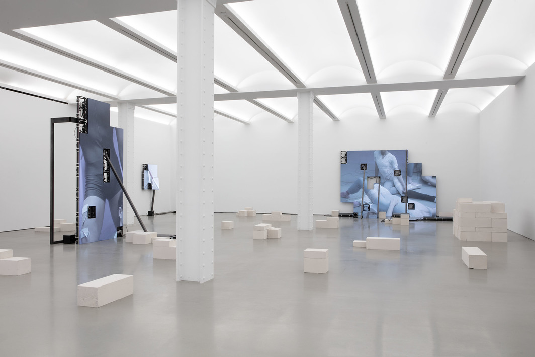 "View of ""Jesper Just: Corporealités,"" 2020 at Perrotin, New York. Photo: Jesper Just and Perrotin."