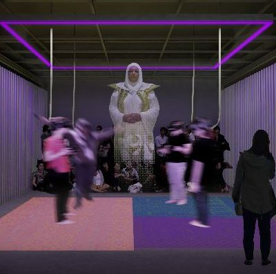 Simulation of art inspired by Sensorium. Photo: Leong Leong. Courtesy of the New Museum.